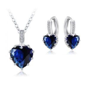 Crystal Heart Earrings,Pendant & Ring Set