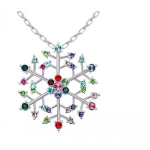 Crystal Snowflake Necklaces – 3 Styles
