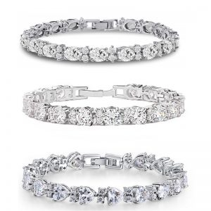 Clear Crystal Tennis Bracelets – 3 styles