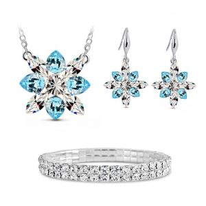 Magical 3D Snowflake Set & Bracelet