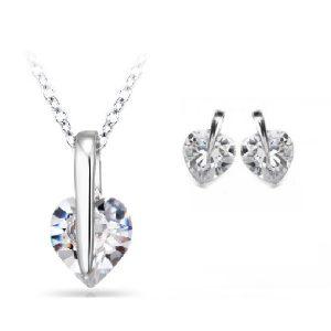 Striking Heart Pendant & Earrings