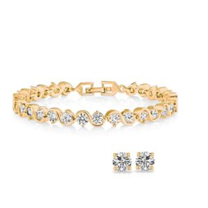 Twisted Tennis Bracelet & Earrings