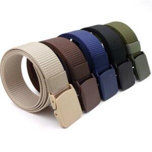 Unisex Nylon Canvas Webbing Buckle Army Belts
