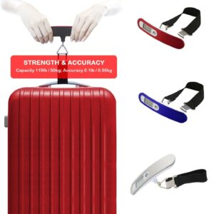 50KG Digital Portable Luggage Travel Scale –  3 Colours