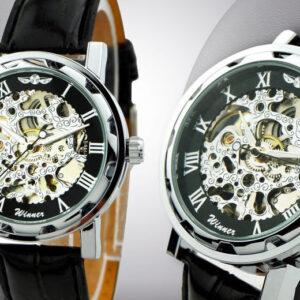Men's Hand-Winding Mechanical Skeleton Watch