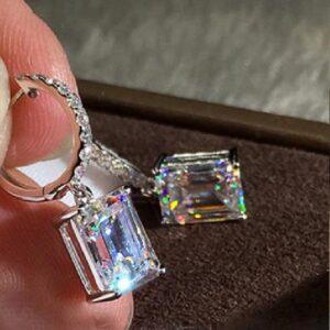Gemstone inspired Crystal hoop Earrings