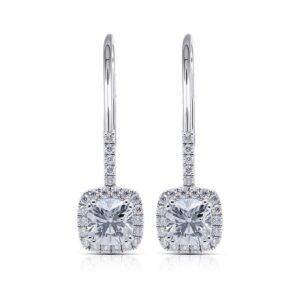 Inlay Crystals Drop Earrings